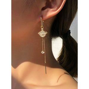 VIVA | Rhinestone Mismatched Drop Earrings